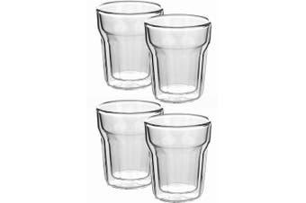 4pc Avanti 100ml Nove Twin Wall Glass for Coffee Tea Water Hot Cold Drink Cup