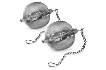 2x Avanti 15477 Stainless Steel Mesh Tea Ball 6.5cm Teapot Breakfast Infuser