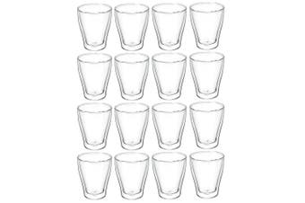 16p Avanti Modena Twin Wall Glass 250ml Coffee Tea Thermal Glasses Expresso Cups