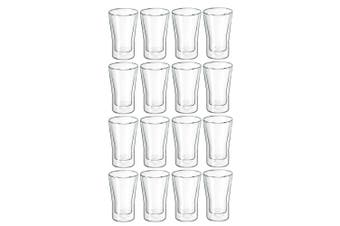 16pc Avanti Uno Double Wall Glass 250ml Hot Cold Thermal Glasses Expresso Cups