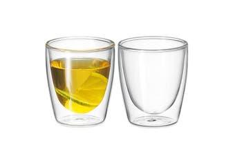 2Pc Avanti Caffe Twin Wall Glass 150ml Coffee Thermal Mug Expresso Cups