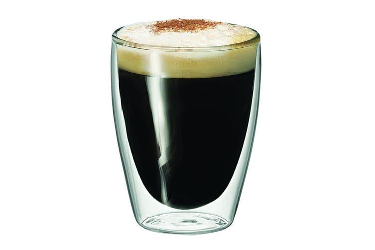8pc Avanti Caffe Twin Wall Glass 250ml Coffee Tea Thermal Glasses Expresso Cups