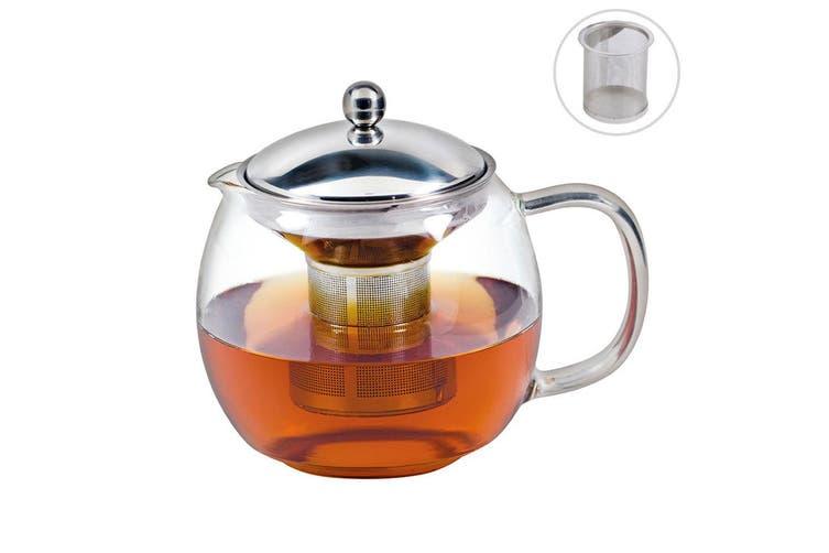 2PK Avanti 1.5L Ceylon Glass Teapot w  Removable Stainless Steel Infuser Tea Pot