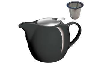 Avanti Camelia Black Ceramic Teapot Stainless Steel Infuser Dishwasher 750ml