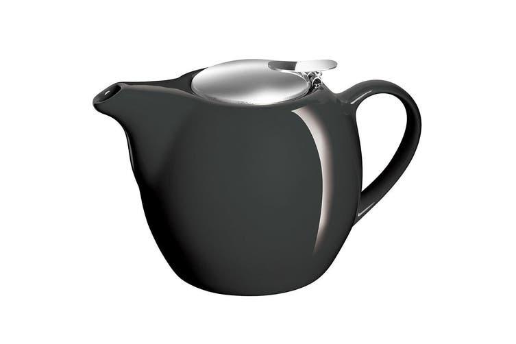 2PK Avanti Camelia Black Ceramic Teapot Stainless Steel Infuser Dishwasher 750ml