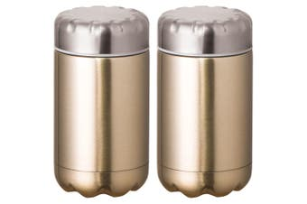 2PK Avanti 500ml Cold Hot Food Drink Thermal Flask Stainless Steel Container GLD