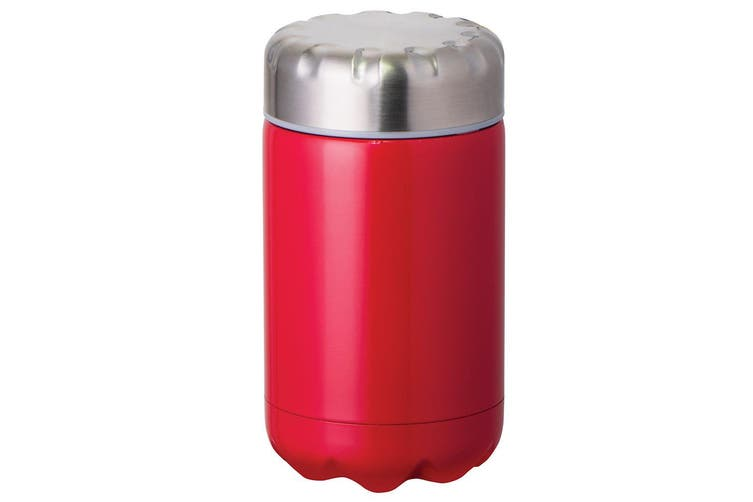 Avanti 500ml Red Cold Hot Food Soup Drink Cup Thermal Flask Stainless Steel