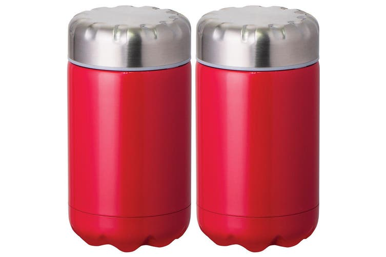 2PK Avanti 500ml Cold Hot Food Drink Thermal Flask Stainless Steel Container Red