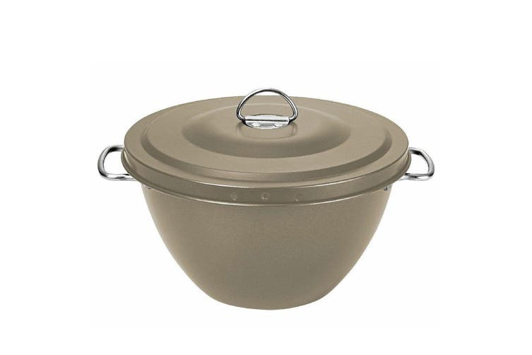 2x Avanti 2L Non Stick Christmas Pudding Fruitcake Mould Steamer Bowl Basin Gold