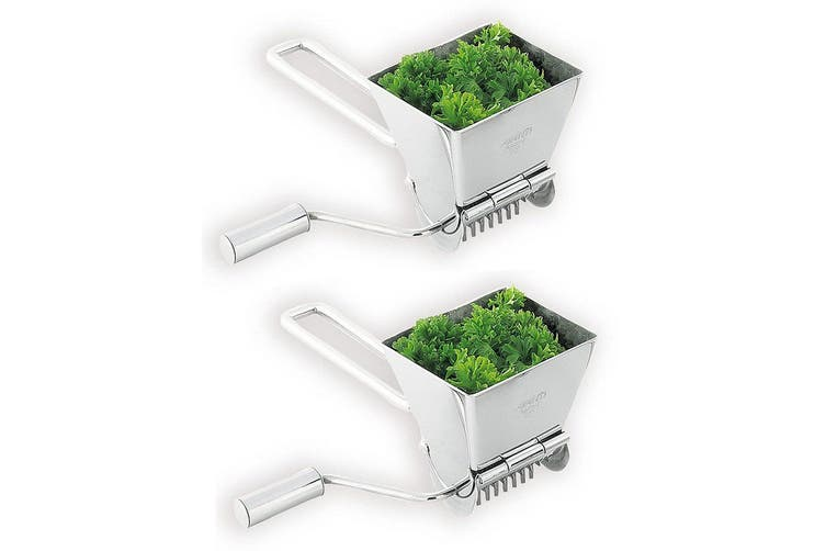 2PK Avanti Lifestyle Rotary Herb Mill Stainless Steel Cutter Grinder Chopper