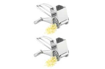 2 Pack Avanti Stainless Steel Rotary Drum Cheese Grater P