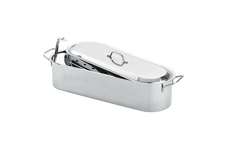 Avanti 51cm Stainless Steel Fish Poaching Pan Poacher Poultry Seafood Cookware