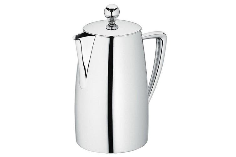 Avanti 800ml 6 Cup Art Deco Coffee Plunger Press Double Wall Stainless Steel