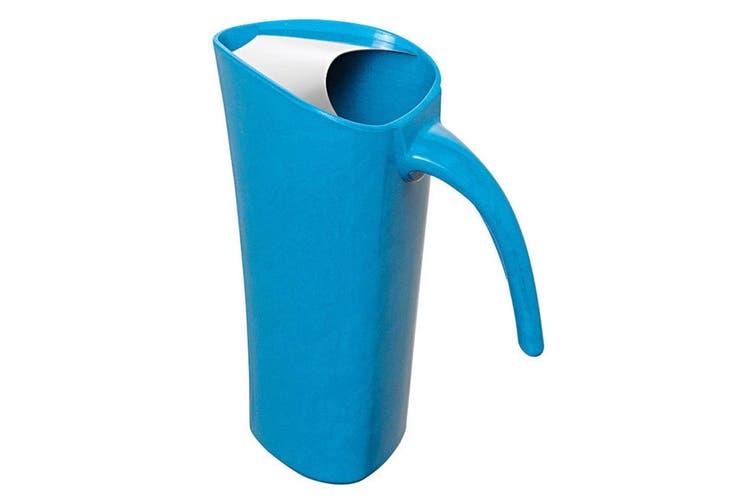 Avanti 1.8L Blue Zute Bamboo Water Pitcher Juice Drink Serving Jug Drip Free