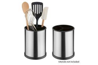 2 Pack Avanti Brushed Stainless Steel Rotating Utensil Holder Kitchen Organise