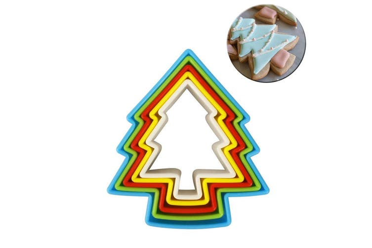 5PC Avanti Christmas Tree Cookies Cutter Baking Cookie Maker Decorating Mould