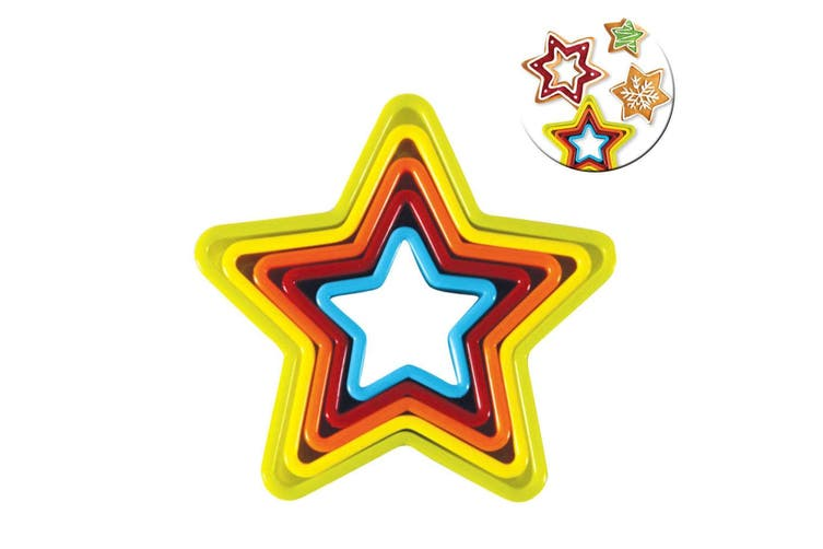 10PC Avanti Christmas Tree Star Cookies Cutter Baking Cookie Decorating Mould
