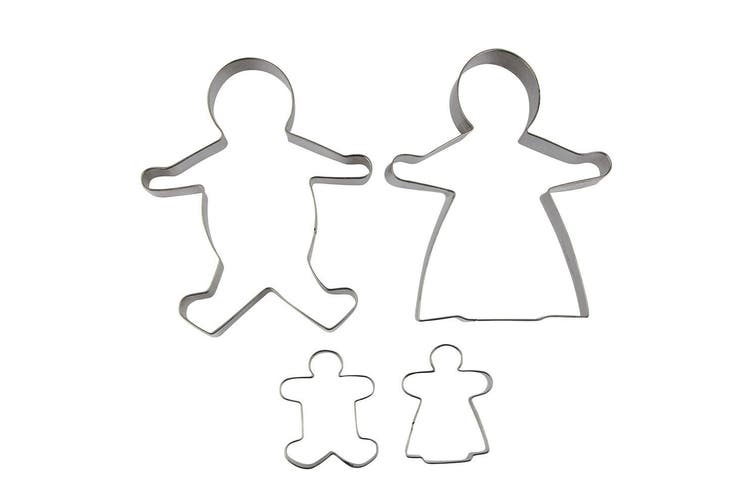 Avanti 4pc Stainless Steel Ginger Bread Family Cookies Cutter Baking Tool Mold