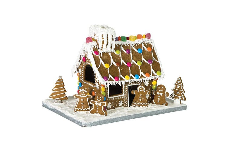 10PC Avanti Gingerbread House Cookies Cutter Baking Tool Mold w  Cardboard Base