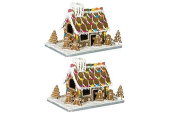 20PC Avanti Gingerbread House Cookies Cutter Baking Tool Mold w  Cardboard Base