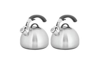 2PK Avanti Varese 2.5L Stainless Steel Whistling Kettle Kitchen Stove Induction