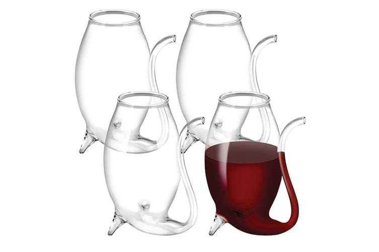 4pc 16587 Avanti Glass Port Sippers Hand Blown Bar Drinking Wine Glasses Flute