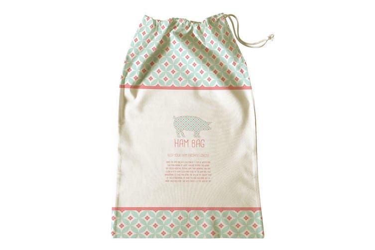 Avanti 65x40cm Ham Bag Kitchen Storage Fresh Food Saver Drawstring Cotton Pouch