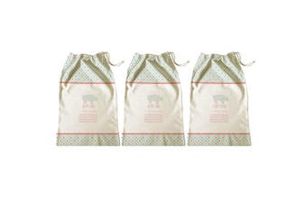 3PK Avanti 65cm Ham Bag Kitchen Storage Fresh Food Saver Drawstring Cotton Pouch
