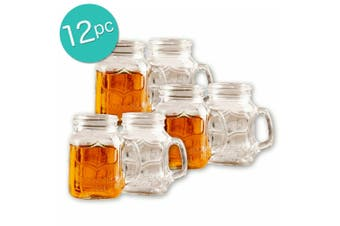 12pc Avanti Yorkshire 150ml Shot Glass Alcohol Liquor Drinking Glasses Clear