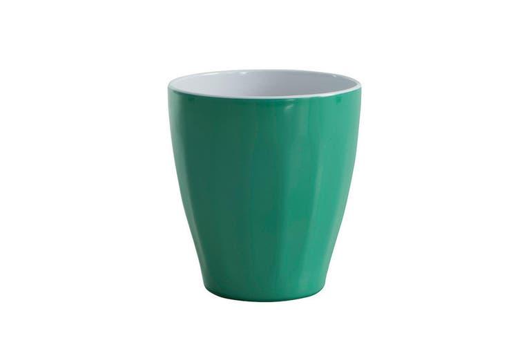 12pc Avanti Boston Melamine 2 Tone Cup D Green 300ml Coffee Tea Drink Kids BBQ