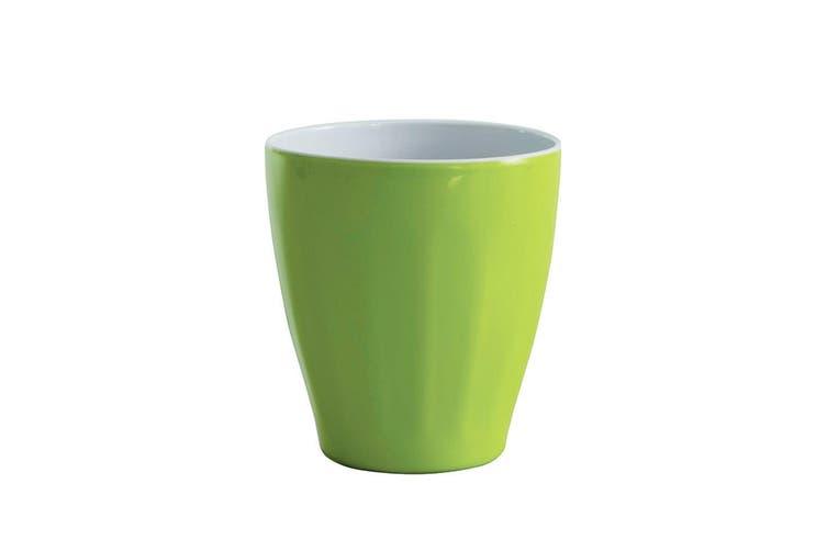 Avanti Boston Melamine Two Tone Cup Lime Green 300ml Coffee Tea Drink