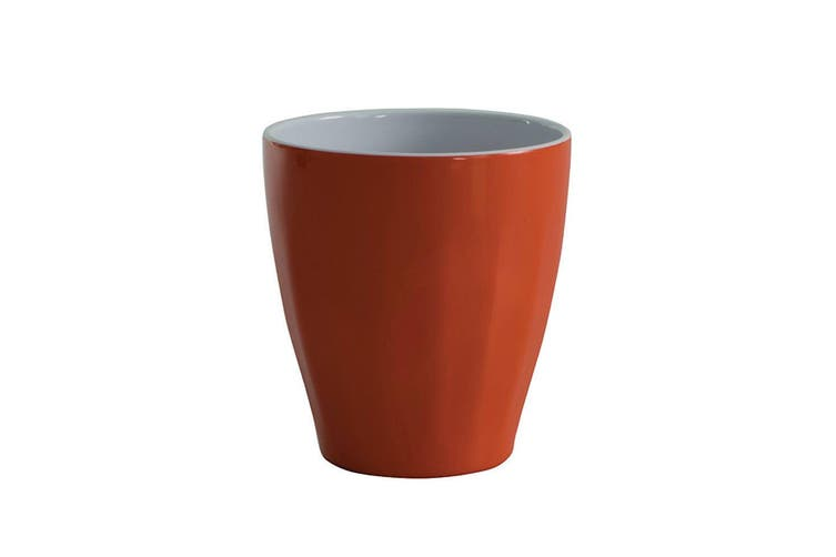 Avanti Boston Melamine 2 Tone Cup Orange 300ml for Coffee Tea Hot Cold Drink Mug