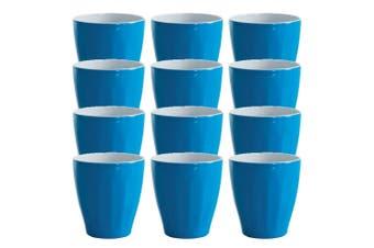 12x Avanti Boston Melamine Tone Cup Reflex Blue 300ml Coffee Tea Tumbler Kid BBQ