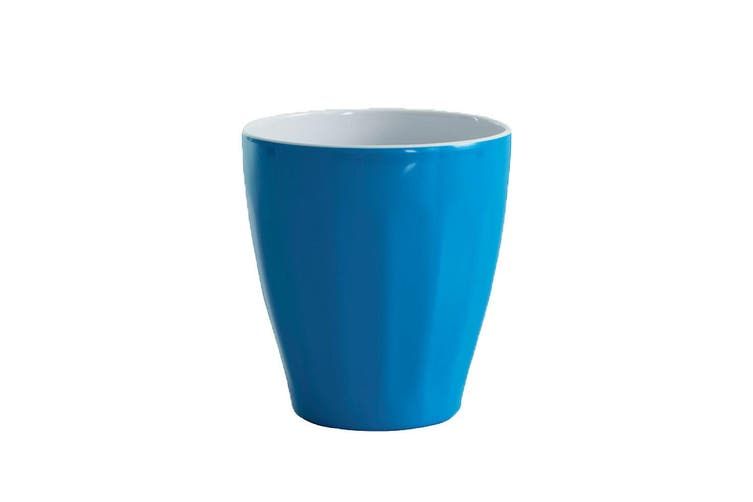 6x Avanti Boston Melamine Tone Cup Reflex Blue 300ml Coffee Tea Tumbler Kids BBQ