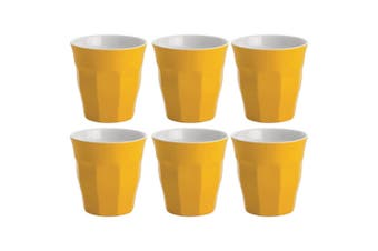 6PK Avanti Boston Melamine Two Tone Cup 300ml Coffee Tea Drink Juice Tumbler YL
