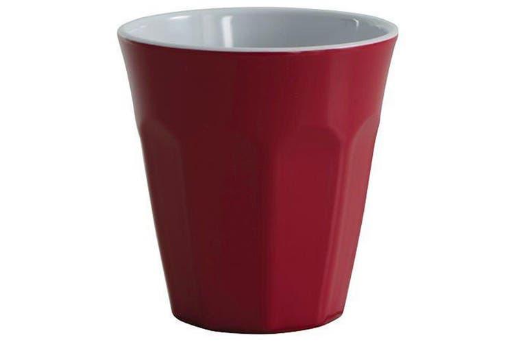 Avanti Cafe Melamine 2 Tone Cup Red 260ml Coffee Tea Drink Kids Tumbler Juice
