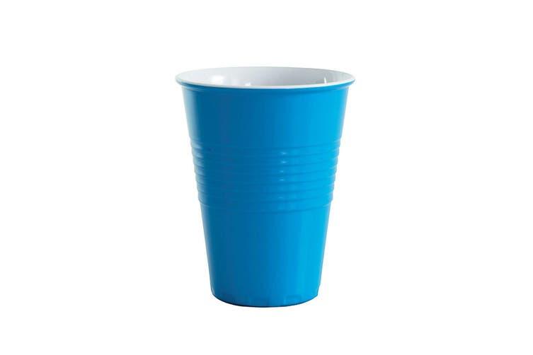 12x Avanti Miami Melamine Cup Blue 400ml Coffee Tea Drink Tumbler Kids BBQ Tone