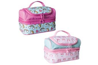 2PK Avanti Yum Yum Kids 2 Section Double Decker Insulated Lunch Bag Owl Unicorn