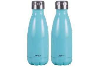 2PK Avanti 350ml Water Vacuum Thermo Bottle Stainless Steel Cold Hot Drink Blue