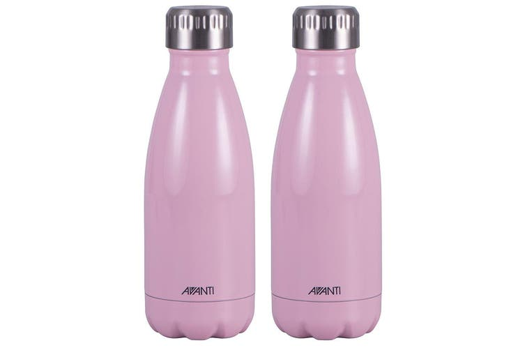 2PK Avanti 350ml Water Vacuum Thermo Bottle Stainless Steel Cold Hot Drink Pink