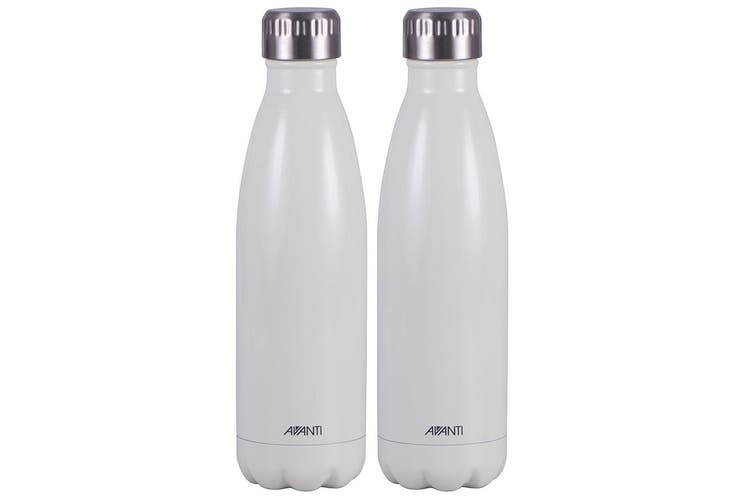 2x Avanti 500ml Water Vacuum Thermo Bottle 2 Wall Stainless Steel Cold Drink WH