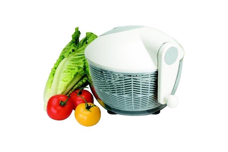 Avanti 30cm Clear Salad Spinner Washer Dryer Container Storage w Brake White