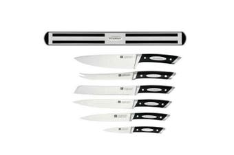 Scanpan Classic 7PC Knives Set Magnetic Rack Wall Mount Stainless Steel Cutlery