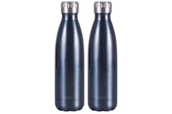 2x Avanti 500ml Water Vacuum Thermo Bottle 2 Wall Stainless Steel Cold Drink BL