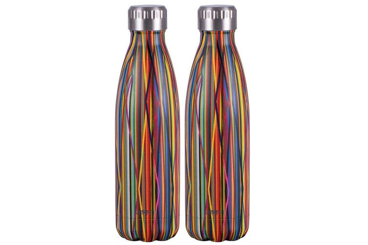 2x Avanti 500ml Water Vacuum Thermo Bottle 2 Wall Stainless Steel Cold Drink ST