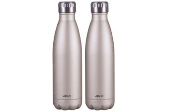 2x Avanti 500ml Water Vacuum Thermo Bottle 2 Wall Stainless Steel Cold Drink GD