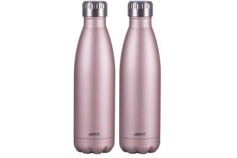 2x Avanti 500ml Water Vacuum Thermo Bottle 2 Wall Stainless Steel Cold Drink PK