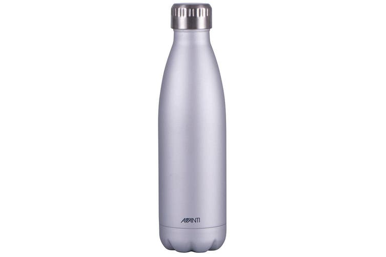 Avanti 500ml Water Vacuum Thermo Bottle Stainless Steel Cold Hot Drink Silver