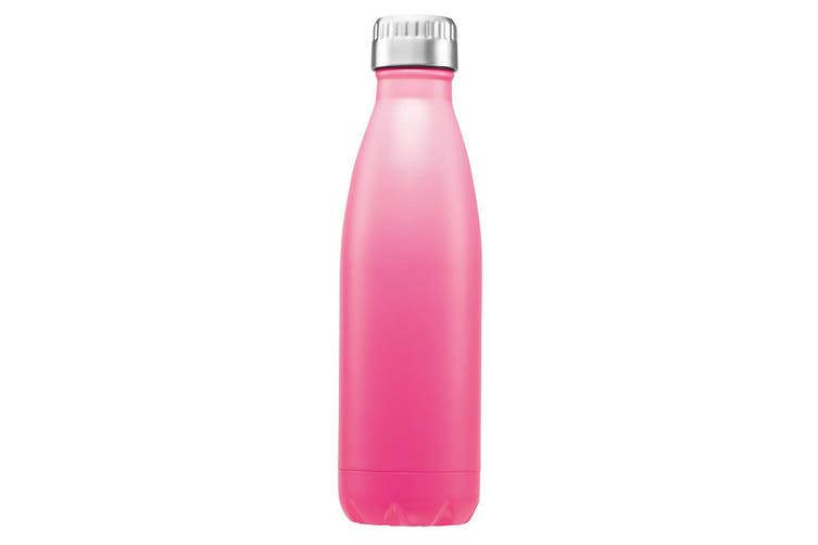 Avanti 500ml Fluid Water Vacuum Thermo Stainless Steel Bottle Hot Cold Soft Pink