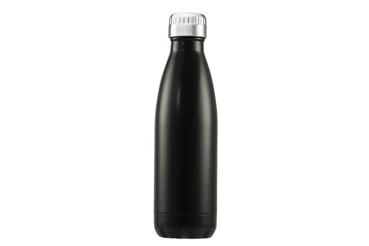 Avanti 750ml Water Vacuum Thermo Bottle Dual Wall Stainless Steel Cold Drink BLK